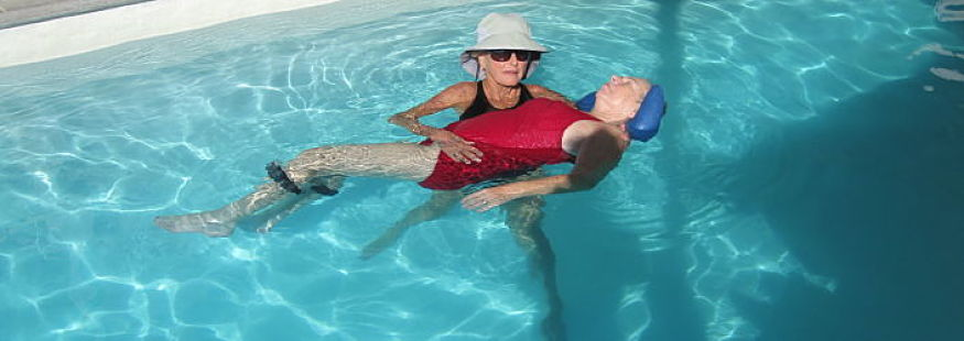 Aquatic Therapy Patient in a Pool