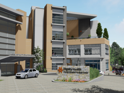 Rendering of the new Patient Care Tower