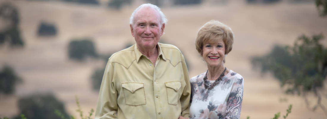 Portrait of Stan and Barbara Clark at their ranch